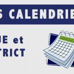 calendriers des compétitions